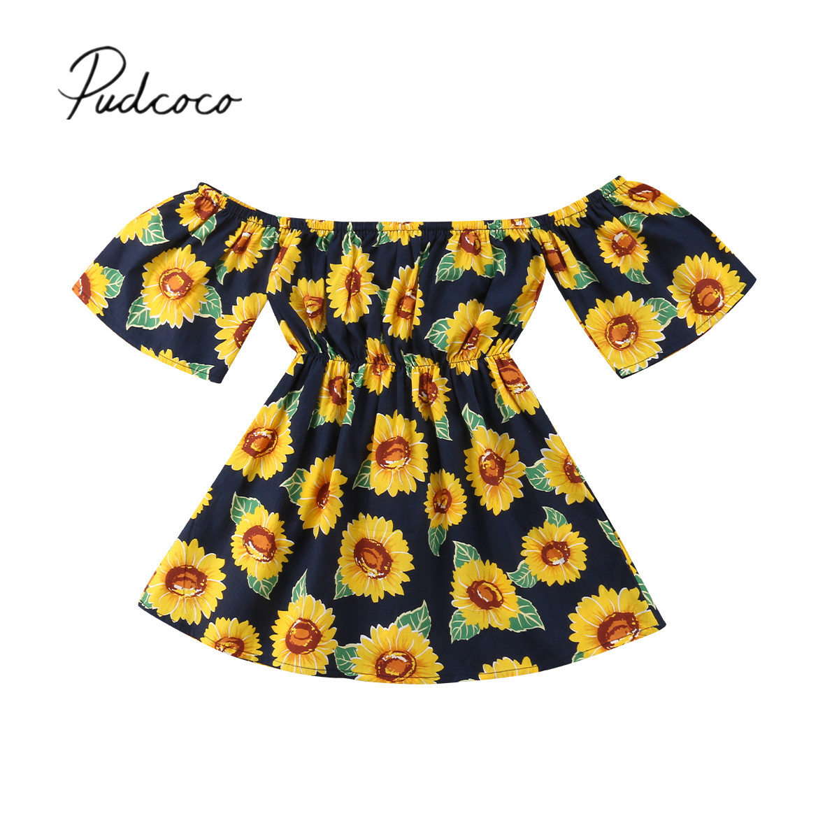 f47446e74 Buy kids off shoulder dress girls and get free shipping on ...