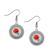 Fishhook Earrings for Women Cleveland Browns Football Rugby Union Fashion Jewelry(China)