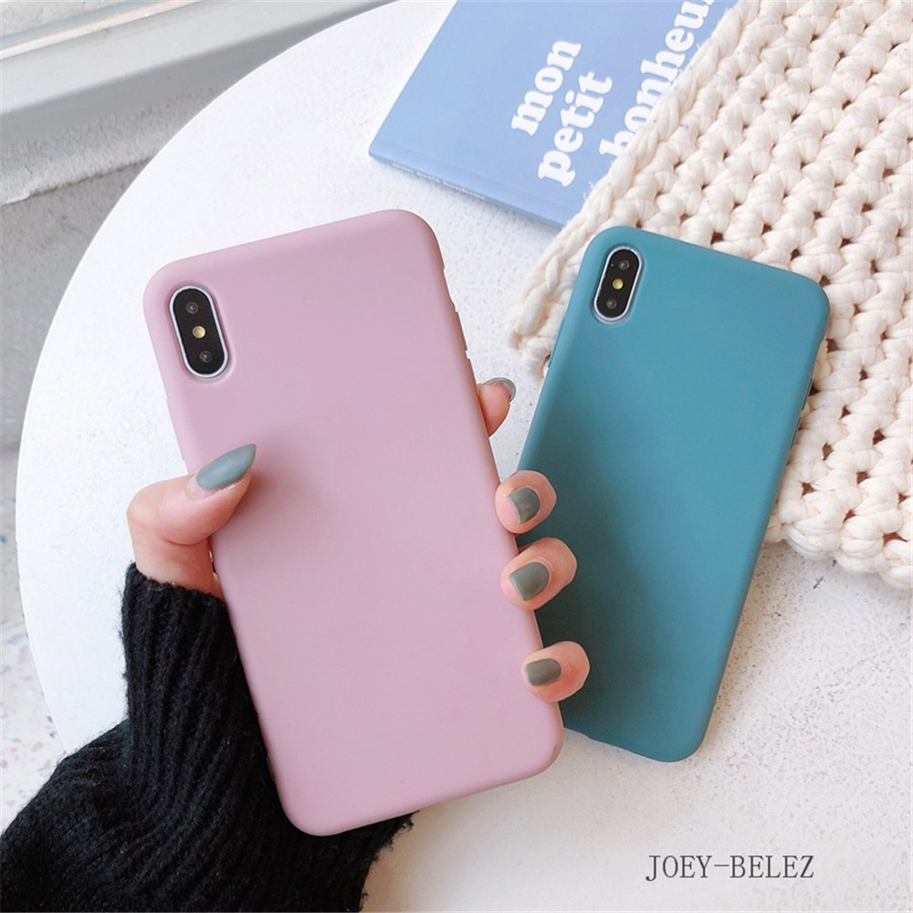 Matte Phone Cases For iPhone 7 Candy Case For iPhone X 7 6 6S 8 Plus 6 6S Case Cover XR XS MXA Coque Silicon Fundas Capa Carcasa06