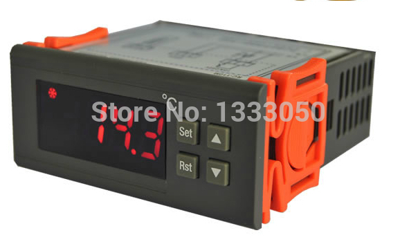 Free Shipping AC 220V -40C to +110C Panel Mount Temperature Controller w Thermocouple<br>