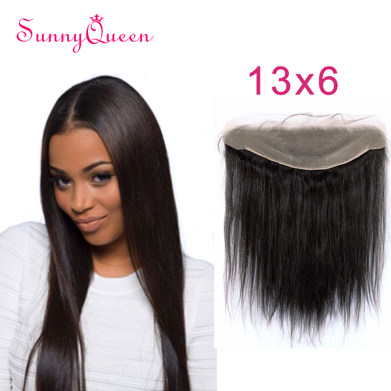 7A Grade 13x6 Ear to Ear Lace Frontal Closure with Baby Hair Bleached Knots 130% Density Brazilian Straight Full Lace Frontal<br><br>Aliexpress