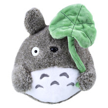 Kids Soft My Neighbor Totoro Plush Doll Stuffed Animal with Lotus Leaf