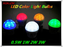 0.5W 1W 2W 3W LED energy saving lamp LED color light bulbs Decorative atmosphere bulb