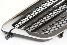 For Benz W212 2010-2013 Sport Half Black ABS Front Bumper Grille Auto Car Mesh Grills Excellent Fitment  Z2AAA027