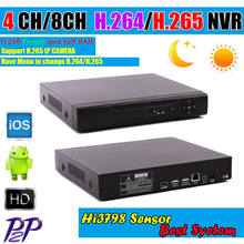 2015 New Hi3798M HD Network DVR 4/8 Channel H.265 4CH 5MP/3MP CCTV NVR For 5MP /3MP IP Camera Onvif 2.3 Support 3G Wifi RS485PTZ