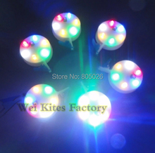 free shipping high quality led kite light Shinning Led Light for Large Kites with switch /6 colors light 10pcs/lot wei kites