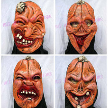 Free Shipping , halloween Pumpkin mask(0.13kgs/pc)/horror halloween mask, whole head in it. party supplier