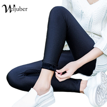 Buy Weljuber 2017 Winter Women Black Leather Pu Leggings Explosion Models Thick Velvet Slim Leggings Warm High Elastic Pant for $9.89 in AliExpress store