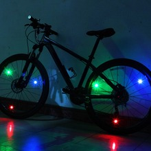Outdoor Bike Bicycle Mini LED Spoke Wire Light Night Cycling Riding Warnning Safety Lamp Candy Color