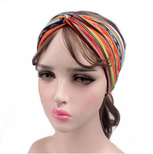 fashion women crossed headband Yoga hair band vintage hair accessory Bohemia women hairband sports headband women headwear(China)
