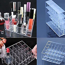 Hight Quality Clear Trapezoid Lipstick Makeup Display Holder Case Cosmetic Organizer    BS