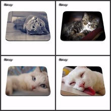 Cheap And Good Sleep Lazy Cat New Arrivals Best Sales Customized Mouse Pad Animals  Computer Notebook Rectangle Rubber Mous