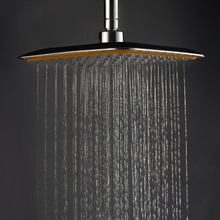 Luxury Large Square ABS Chrome Water Rains Shower Head Extension Arm Bathroom Set for Bathroom Shower Accessories