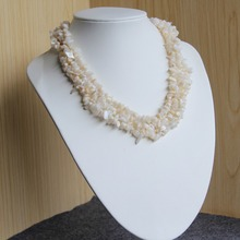 2017 New Necklace 6-8mm Natural Irregular Accessories Ocean Sea Shell sea Shell necklace Women Girl 15inch Jewelry Making Design(China)