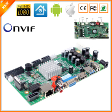 32CH 1080P CCTV NVR Board HI3535 2 SATA Ports ONVIF Security Video Recorder Board 32CH 1080P/8CH 5MP Video Input 1CH Audio I/O