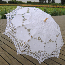 Battenburg Lace White Umbrella Wedding Bridal lace Parasol Vintage Umbrella for Bridal Bridesmaid,Wedding Gift