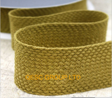 4cm DK yellow high quality knitting ribbon hemp cotton ribbon net fabric for fascinator hair accessory  hat bag decoration belt.