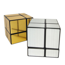 ShengShou Mirror 2x2x2 Magic Cube Golden/Silver Strengthen Professional Magnetic Speed Magic Puzzle Cube Cubo Magico Puzzle Toys(China)