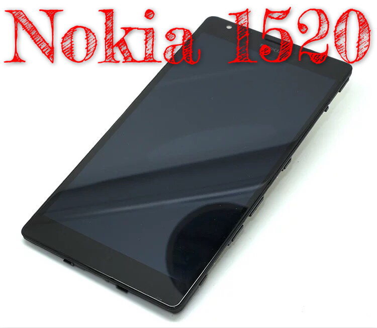 For New  Nokia Lumia1520 touch outside the hand-written screen LCD screen assembly with inside and outside support frame<br><br>Aliexpress