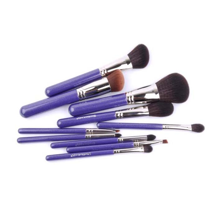 ShouShouLang Professional 10pcs Makeup Brushes Set Synthetic Goat Hair Powder Blush Sculpting Eye Shadow Brush Cosmetic Tools<br>