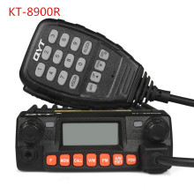 QYT KT-8900R Upgraded Mini Car radio  VHF/UHF Tri-band 25W 200CH Scramble FM 8900r Car Mobile Transceiver Radio 50 for Bus Taxi