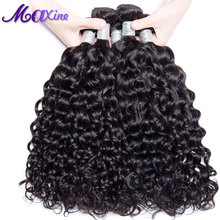 Maxine Hair 1 Bundle Wet And Wavy Peruvian Remy Hair 100g Human Hair Weave Can Mix 3/ 4 Thick Hair Weave Bundles Can Be Bleached(China)