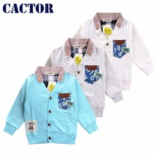 2017 Spring children clothing kids blouses shirts for boys coats v-neck jacket cotton long sleeve shirt baby boy clothes coat