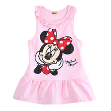 Minnie Mouse Dress Baby Girl Minnie DressKid Kitty Cat Party Dresses Summer Dress Vestido Minnie Robe Fille Enfant 6M-5Y(China)