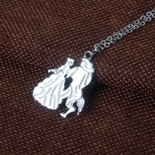 SONGCHANGJEWELRY Beauty and the Beast Necklece Pendant Beauty and the beast Statue Jewelry Factory direct sale for Mother's day