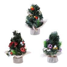 Mini Christmas Tree Ornament Gifts Home Office Desk Table Christmas Party Decoration for Home PVC Gold/ Red /Purple 20 cm(China)