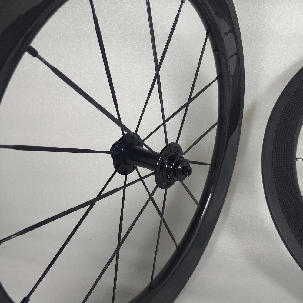 SEMA 16inch349 carbon wheelset with husmith 3K glossy (17)
