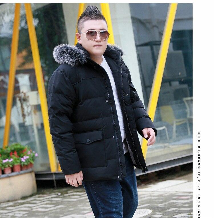 Mutter & Kinder Neue Winter Männer Super Große Mit Kapuze Pelz Kragen Weiße Ente Unten Jacke Mode Trend Mantel Lose Beiläufige Plus Größe Xl-11xl12xl13xl