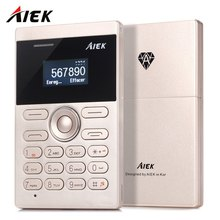AIEK E1 1.0 inch Quad Band Mini Card Phone Bluetooth 3.0 FM Audio Player Slim Thin Smart Student Children Mobile Cell Phone