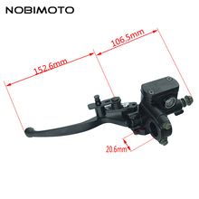 New Universal Motorcycle Alloy Brake Lever ATV left Side Hydraulic Brake Master Cylinder Lever For 50cc-250cc ATV Quad DS-146(China)