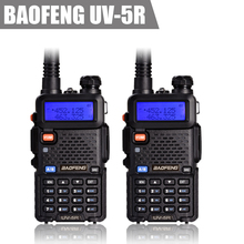 Free Shipping 2pcs/lot BAOFENG UV-5R UV 5R UV5R Two Way Radio Dual Band VHF/UHF 136-174/400-480MHz Transceiver Walkie Talkie(China)