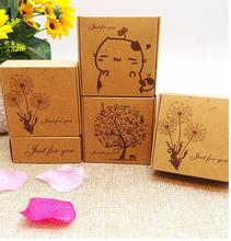 03.16/75x75x30mm kraft gift paper box jewelry gift box kraft ,Soap Packaging, Storage Item Aircraft box
