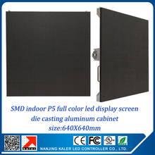 TEEHO 25'' x 25'' small rental led display video wall P5 640x640mm rental aluminum cabinet RGB full color video wall indoor led(China)