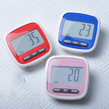 Blue Red Pink LCD Digital Clip Pedometer Step Walking Distance Calorie Counter Calculation 3 Colors