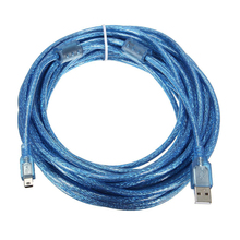 10M USB 2.0 A Male to Mini 5Pin Male Sync Data Charger Extension Cable Lead Cord(China)