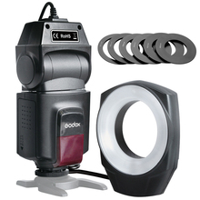 Godox ML-150 Macro Ring Flash Light Guide Number 10 6 Lens Adapter Rings Canon Nikon Pentax Olympus DSLR cameras - RongGen store