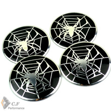 Rhino Tuning Spider 1Set 56mm Auto Wheel Center Badges Emblem Sticker For Strada Onix Prisma Ecosport Hilux #499a(China)