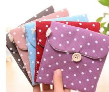 100pcs cotton sanitary towel bag health cotton aunt towel packaging sanitary napkin bag