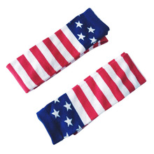 2017 Star Striped Women Thigh High Stockings Fashion Hip Hop Stockings Girls Popular Stars and Stripes Women Stockings(China)