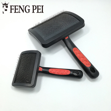 Pet Shedding Hair Grooming Dense Comb Slicker Brushes For Pet  Plastic Handle Brush Airbag Stainless Steel Pin Dog Comb