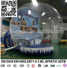 Personalized Advertising Inflatable Snow Globe For Sale