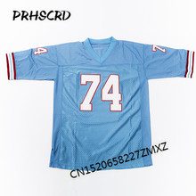 Retro star #74 Bruce Matthews Embroidered Throwback Football Jersey(China)