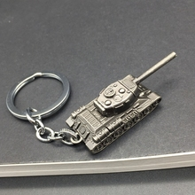 Fashion Popular Game WOT World Of Tanks Keychain Tank Pendant Woman Bag Charms Key Ring Chain Man Souvenirs Gift Jewelry Trinket(China)