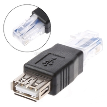 3Pcs/Set USB Type A Female To Ethernet Internet RJ45 Male Converter Adapter #H029#(China)