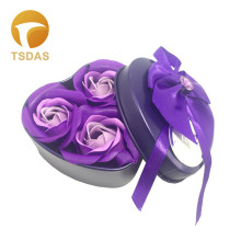 Romantic Scented Bath Soap Rose 3/6/9pcs/Set Soap Flower Petal With Gift Box For Wedding Valentine's Day Gifts(China)