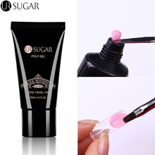 UR SUGAR Poly Gel Finger Extension 30ml Clear Pink Jelly Polygel Quick Building Nail Art Tips Extend UV Builder Gel Camouflage(China)